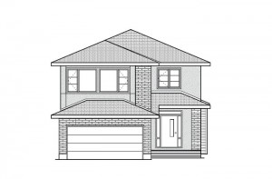 Eastleigh - R9 Modern Prairie Elevation - 2,148 sqft, 3 Bedroom, 2.5 Bathroom - Cardel Homes Ottawa