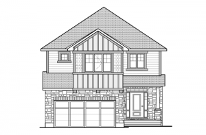 Bedington - R8 Canadiana Elevation - 2,549 sqft, 4 Bedroom, 2.5 Bathroom - Cardel Homes Ottawa