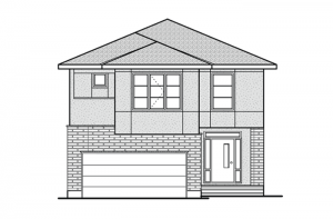 Bedington - R9 Modern Prairie Elevation - 2,549 sqft, 4 Bedroom, 2.5 Bathroom - Cardel Homes Ottawa