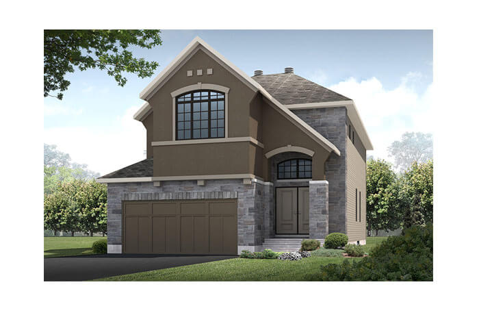 Bedington - R5 Chateau Elevation - 2,549 sqft, 4 Bedroom, 2.5 Bathroom - Cardel Homes Ottawa