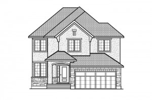 Devlyn - R5 Chateau Elevation - 2,259 sqft, 4 Bedroom, 2.5 Bathroom - Cardel Homes Ottawa