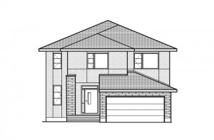 Devlyn - R9 Modern Urban Elevation - 2,259 sqft, 4 Bedroom, 2.5 Bathroom - Cardel Homes Ottawa