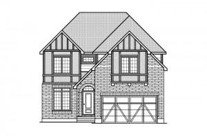 Ridgemont - R7 English Heritage Elevation - 2,701 sqft, 4 Bedroom, 2.5 Bathroom - Cardel Homes Ottawa