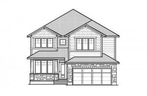 Ridgemont - R8 Canadiana Elevation - 2,701 sqft, 4 Bedroom, 2.5 Bathroom - Cardel Homes Ottawa