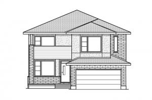 Ridgemont - R9 Modern Prairie Elevation - 2,701 sqft, 4 Bedroom, 2.5 Bathroom - Cardel Homes Ottawa