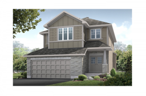 Montage - Canadiana A1 Elevation - 2,020 sqft, 3 Bedroom, 2.5 Bathroom - Cardel Homes Ottawa