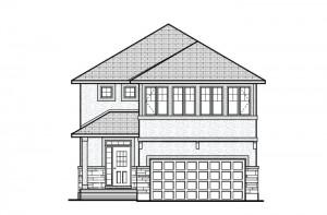 North Hampton - A1 Chateau Elevation - 2,413 sqft, 3 - 4 Bedroom, 2.5 - 3.5 Bathroom - Cardel Homes Ottawa