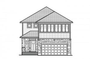 North Hampton - A4 Canadiana Elevation - 2,413 sqft, 3 - 4 Bedroom, 2.5 - 3.5 Bathroom - Cardel Homes Ottawa