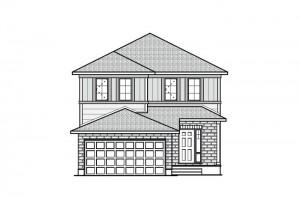 Chesapeake - Canadiana A4 Elevation - 2,023 sqft, 3 - 4 Bedroom, 2.5 Bathroom - Cardel Homes Ottawa