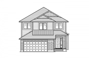 Montage - Canadiana A4 Elevation - 2,020 sqft, 3 Bedroom, 2.5 Bathroom - Cardel Homes Ottawa