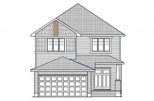 CHESAPEAKE BSPS - Canadiana B1 Elevation - 2,110 sqft, 3 - 4 Bedroom, 2.5 Bathroom - Cardel Homes Ottawa