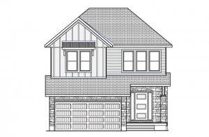 CHESAPEAKE BSPS - Farmhouse B2 Elevation - 2,110 sqft, 3 - 4 Bedroom, 2.5 Bathroom - Cardel Homes Ottawa