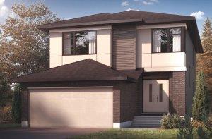 CHESAPEAKE BSPS - Modern B3 Elevation - 2,110 sqft, 3 - 4 Bedroom, 2.5 Bathroom - Cardel Homes Ottawa