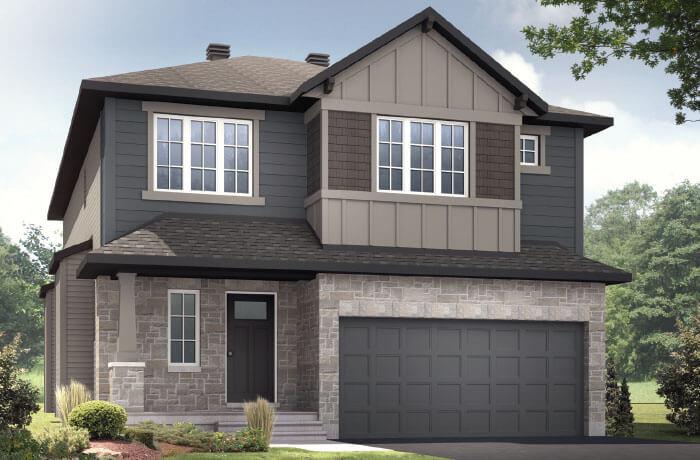 DEVONSHIRE 2 BSPS - Canadiana B1 Elevation - 2,227 sqft, 4 Bedroom, 2.5 Bathroom - Cardel Homes Ottawa