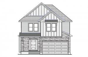 DEVONSHIRE 2 BSPS - Farmhouse B2 Elevation - 2,227 sqft, 4 Bedroom, 2.5 Bathroom - Cardel Homes Ottawa