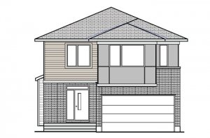 DEVONSHIRE 2 BSPS - Modern B3 Elevation - 2,227 sqft, 4 Bedroom, 2.5 Bathroom - Cardel Homes Ottawa