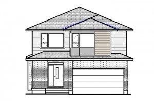 DEVONSHIRE 2 BSPS - Modern B4 Elevation - 2,227 sqft, 4 Bedroom, 2.5 Bathroom - Cardel Homes Ottawa