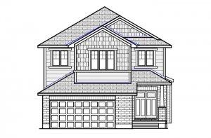 MONTAGE BSPS - Canadiana B1 Elevation - 2,031 sqft, 3 - 4 Bedroom, 2.5 Bathroom - Cardel Homes Ottawa