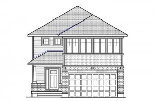 NORTH HAMPTON BSPS - Canadiana B1 Elevation - 2,433 sqft, 3 - 4 Bedroom, 2.5 - 3.5 Bathroom - Cardel Homes Ottawa