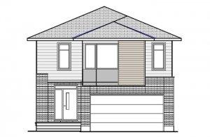NORTH HAMPTON BSPS - Modern B3 Elevation - 2,433 sqft, 3 - 4 Bedroom, 2.5 - 3.5 Bathroom - Cardel Homes Ottawa