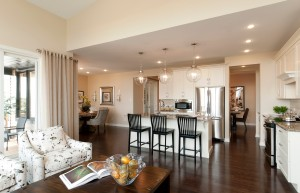 Berkshire 2 - A1 Canadiana Gallery - Berkshire 2 Great Room 2  - 2,570 sqft, 4 Bedroom, 2.5 Bathroom - Cardel Homes Ottawa