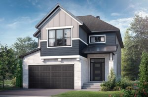 Berkshire2_B2-Farmhouse Elevation - 2,570 sqft, 4 Bedroom, 2.5 Bathroom - Cardel Homes Ottawa