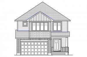 CANADIANA_B1 Elevation - 2,570 sqft, 4 Bedroom, 2.5 Bathroom - Cardel Homes Ottawa