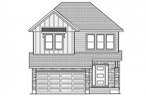 Chesapeake-B2-Farmhouse Elevation - 2,110 sqft, 3 - 4 Bedroom, 2.5 Bathroom - Cardel Homes Ottawa