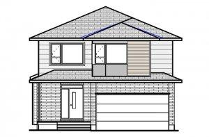 Devonshire-2-Modern B4 Elevation - 2,227 sqft, 4 Bedroom, 2.5 Bathroom - Cardel Homes Ottawa