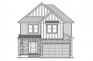 Devonshire2_Farmhouse-B2 Elevation - 2,227 sqft, 4 Bedroom, 2.5 Bathroom - Cardel Homes Ottawa