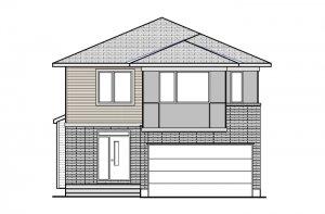 MODERN B3 Elevation - 2,227 sqft, 4 Bedroom, 2.5 Bathroom - Cardel Homes Ottawa