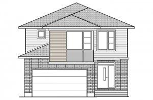 MODERN_B3 Elevation - 2,570 sqft, 4 Bedroom, 2.5 Bathroom - Cardel Homes Ottawa