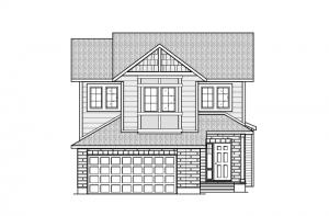 Montage-Canadiana-A5-700x460_Web Elevation - 2,020 sqft, 3 Bedroom, 2.5 Bathroom - Cardel Homes Ottawa