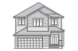 Montage-Canadiana-B1 Elevation - 2,031 sqft, 3 - 4 Bedroom, 2.5 Bathroom - Cardel Homes Ottawa
