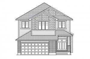 Montage---Canadiana-B1 Elevation - 2,031 sqft, 3 - 4 Bedroom, 2.5 Bathroom - Cardel Homes Ottawa