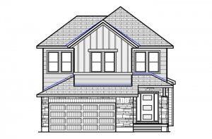 Montage-Farmhouse-B2 Elevation - 2,031 sqft, 3 - 4 Bedroom, 2.5 Bathroom - Cardel Homes Ottawa