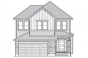 Montage - Farmhouse B2 Elevation - 2,031 sqft, 3 - 4 Bedroom, 2.5 Bathroom - Cardel Homes Ottawa
