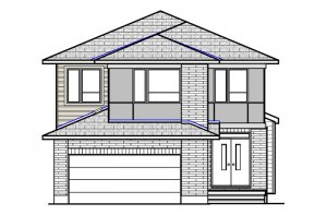 Montage-Modern-B3 Elevation - 2,031 sqft, 3 - 4 Bedroom, 2.5 Bathroom - Cardel Homes Ottawa
