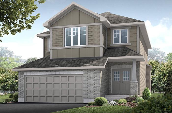 MontageA1-elevation Elevation - 2,020 sqft, 3 Bedroom, 2.5 Bathroom - Cardel Homes Ottawa