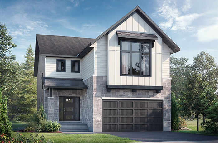 New home in <B></B>NORTH HAMPTON in Blackstone in Kanata South, 2,433 SQFT, 3 - 4 Bedroom, 2.5 - 3.5 Bath, Starting at 773,000 - Cardel Homes Ottawa