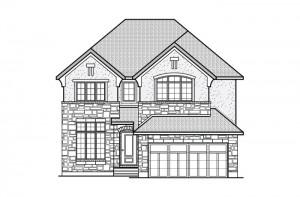 Ridgemont_R5rev_CHATEAU Elevation - 2,701 sqft, 4 Bedroom, 2.5 Bathroom - Cardel Homes Ottawa