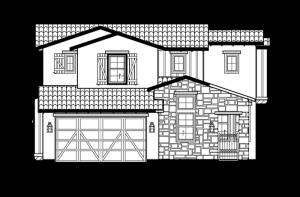 Casella - Elevation A Elevation - 2,459 sqft, 3 Bedroom, 2.5 Bathroom - Cardel Homes Denver