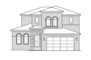 Ferrero - Elevation C Elevation - 2,327 sqft, 3 Bedroom, 2.5 Bathroom - Cardel Homes Denver