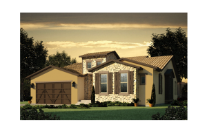 Romano - Elevation A Elevation - 2,274 sqft, 3 Bedroom, 2 Bathroom - Cardel Homes Denver