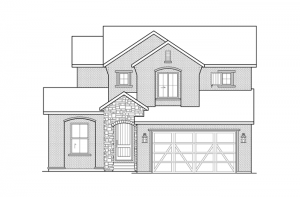 Ferrero - Elevation A Elevation - 2,327 sqft, 3 Bedroom, 2.5 Bathroom - Cardel Homes Denver