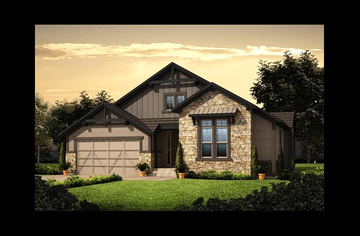 Durango - Colorado Rustic Elevation - 2,285 sqft, 3 Bedroom, 2 Bathroom - Cardel Homes Denver