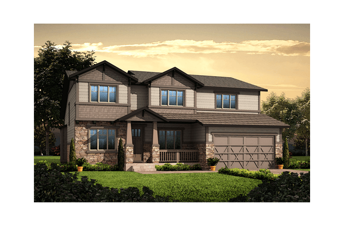 Vail - Craftsman Elevation - 2,916 sqft, 3 Bedroom, 2.5 Bathroom - Cardel Homes Denver