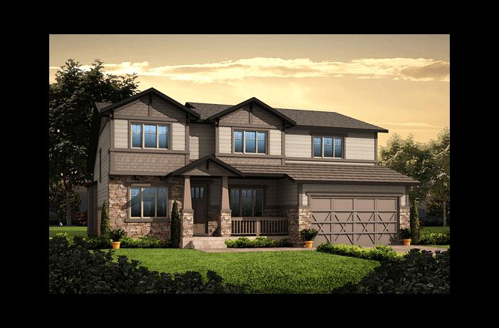Vail - Craftsman Elevation - 2,916 sqft, 3 Bedroom, 2.5 Bathroom - Cardel Homes Denver