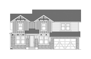 Vail - Colorado Rustic Elevation - 2,916 sqft, 3 Bedroom, 2.5 Bathroom - Cardel Homes Denver