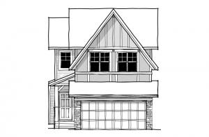 Orleans 2 - Tudor G2 Elevation - 1,787 sqft, 3 Bedroom, 2.5 Bathroom - Cardel Homes Calgary